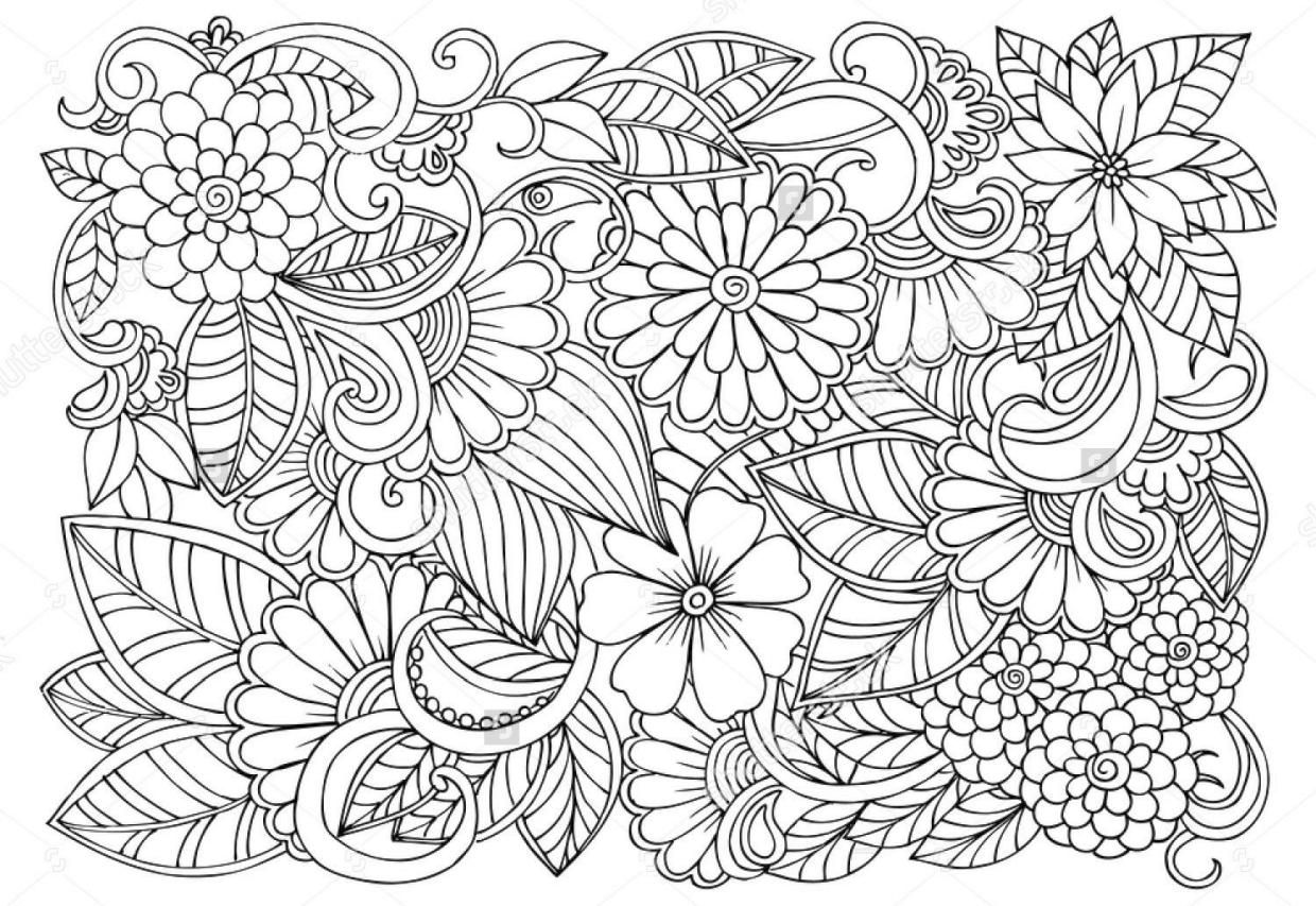 Get This Floral Pattern Coloring Pages For Adult Free Jbl3