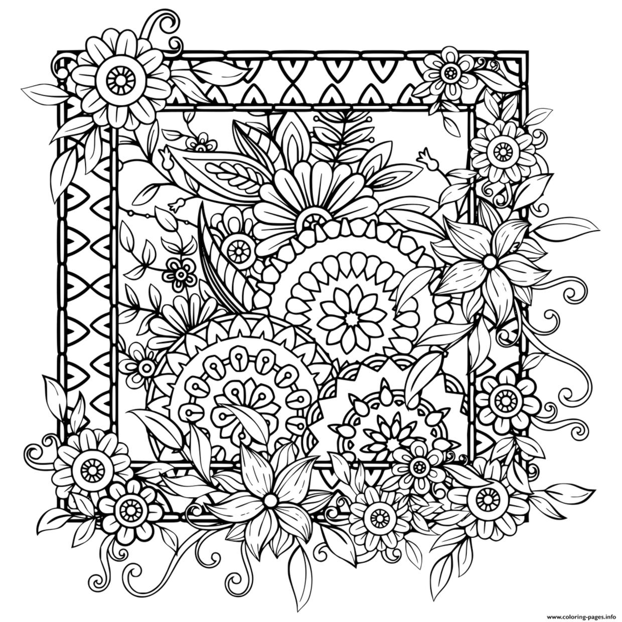 Get This Flower Pattern Coloring Pages to Print for Adults ...