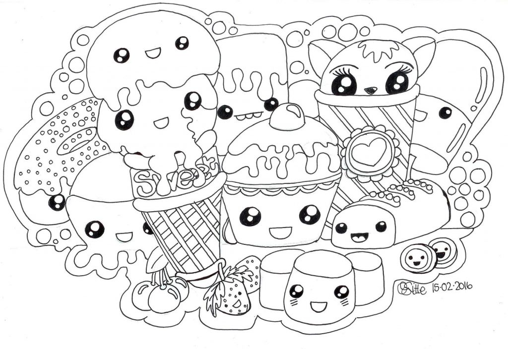 Get This Food Kawaii Coloring Pages Free To Print !