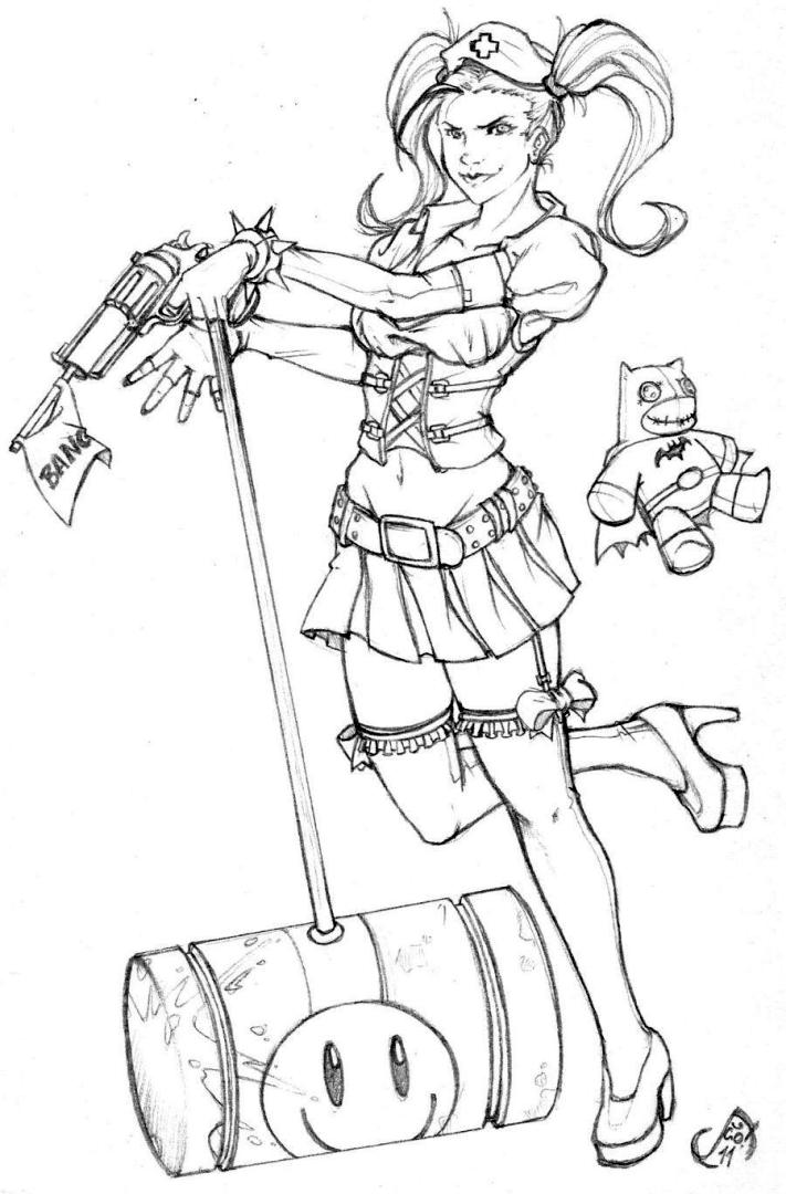 - Get This Harley Quinn Coloring Pages For Grown Ups 7bng !