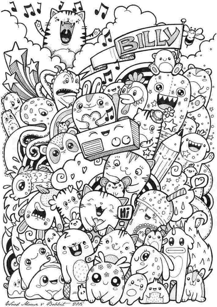 Get This Kawaii Coloring Pages Free Printable Doodle Art !