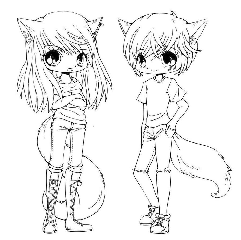 Get This Kawaii Teenage Anime Characters Coloring Pages
