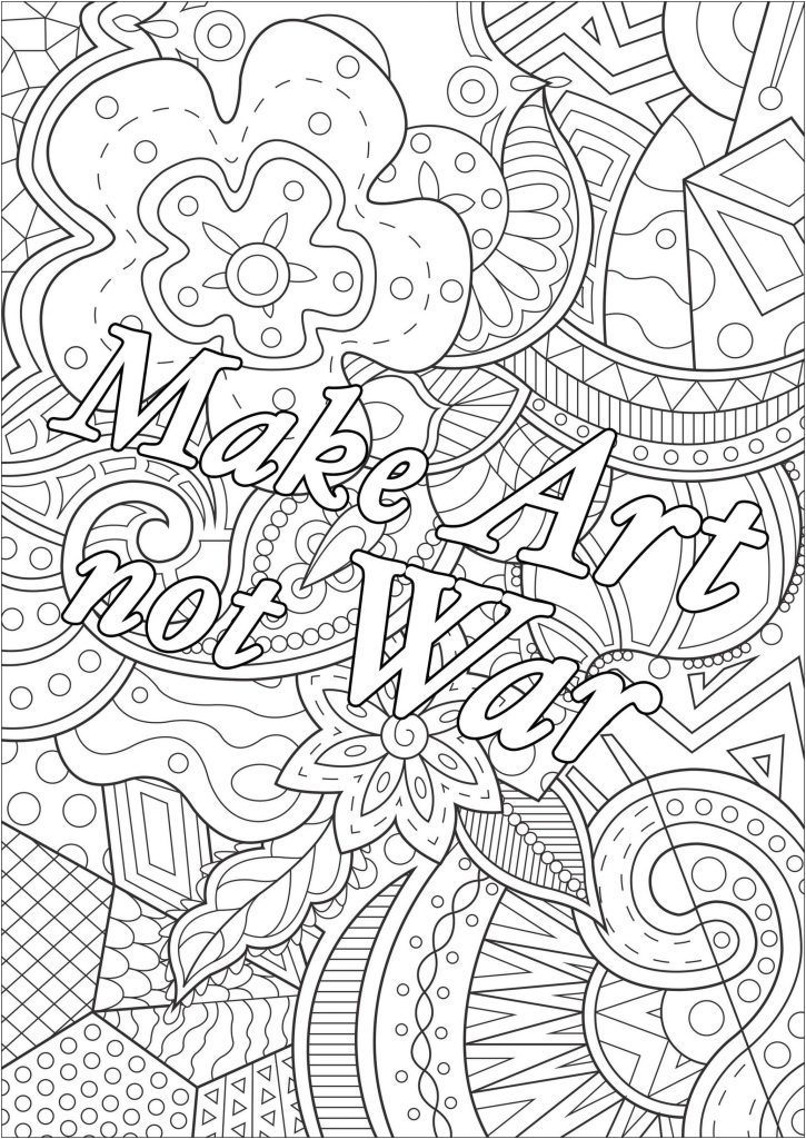 Get This Printable Adult Coloring Pages Quotes Art