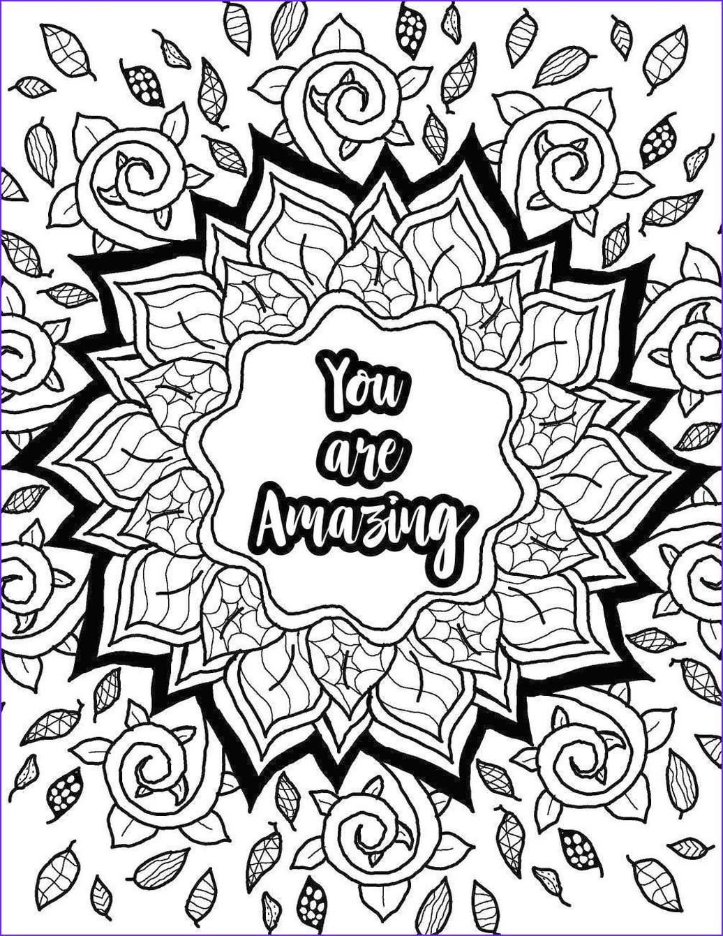 20+ Free Printable Printable Adult Coloring Pages Quotes ...