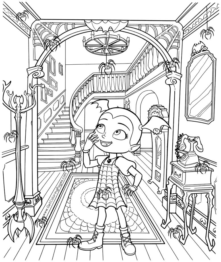 Get This Vampirina Coloring Pages Vampirina In An Old Castle