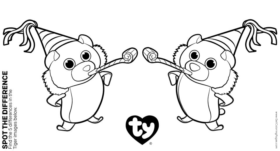 Get This Ty Beanie Boo Coloring Pages Online 2qwn !