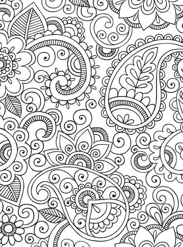 Adult Coloring Pages Paisley