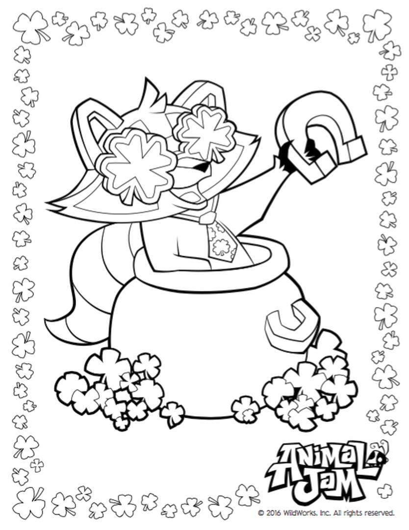 Get This Lucky Day Animal Jam Coloring Pages Free 2lck