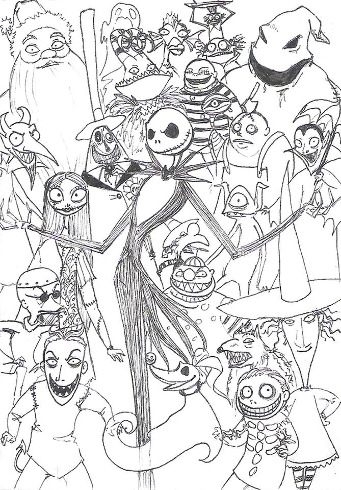 Get This Nightmare Before Christmas Coloring Pages ...