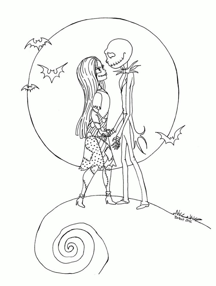 Nightmare Before Christmas Coloring Page - Free Coloring Pages Online | 960x726
