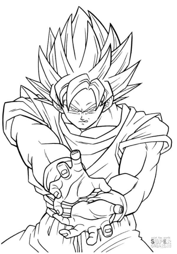 Get This Anime Coloring Pages Goku Super Saiyan