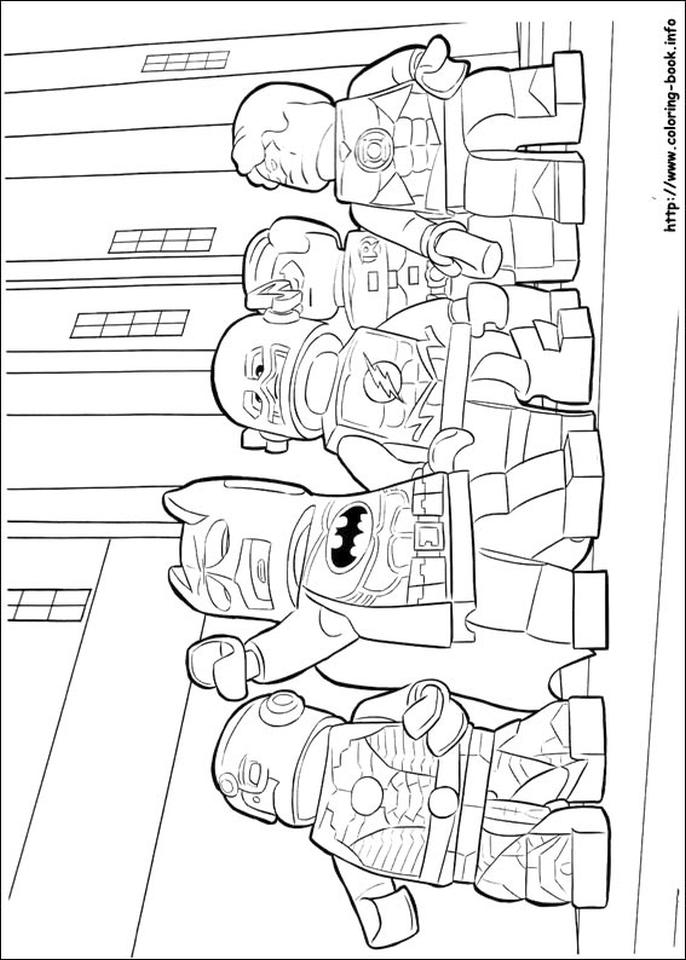 Get This Lego Batman Coloring Pages Justice League in Action