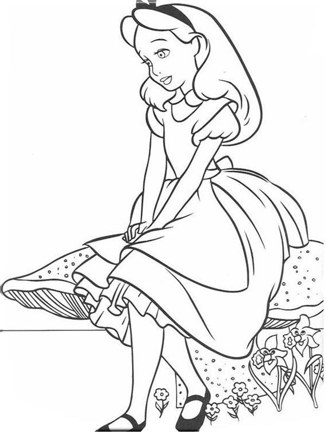20 Free Printable Alice In Wonderland Coloring Pages Everfreecoloring Com