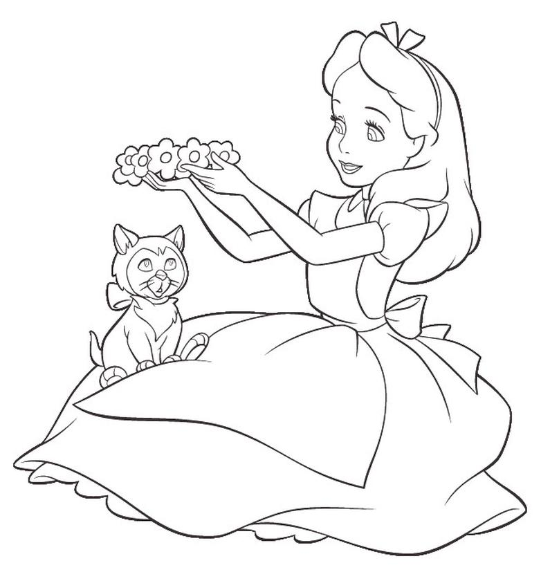 Get This Alice In Wonderland Coloring Pages Free Printable 7cr1 !