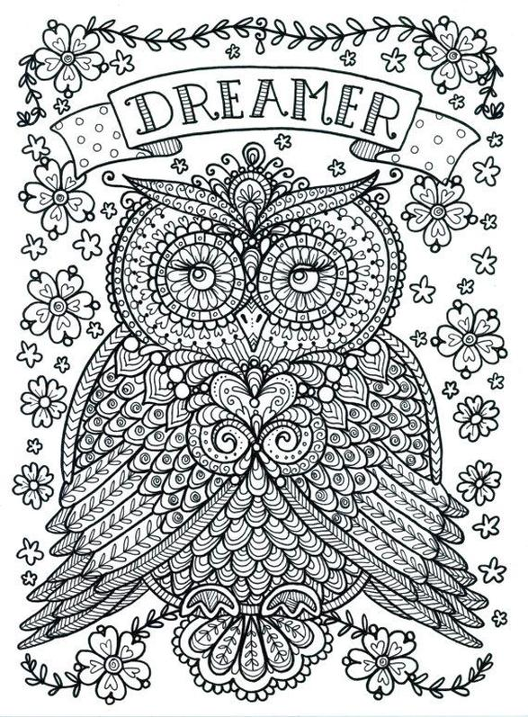Get This Free Owl Coloring Pages For Adults Do16 !