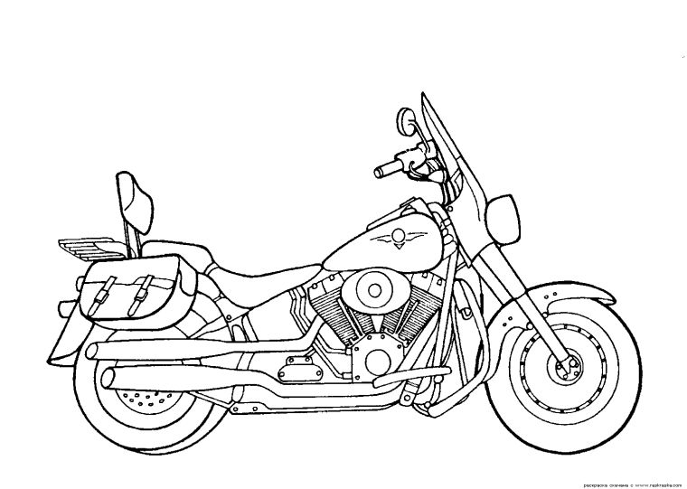 Get This Motorcycle Coloring Pages Harley Davidson Free Printable