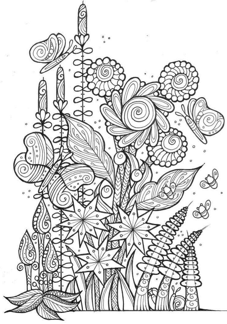 Get This Spring Coloring Pages for Adults Flowers and ...