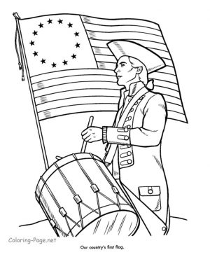 4th of July Coloring Pages for Toddlers – 9517s