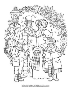 Adult Christmas Coloring Pages Free Printable Family jdl5