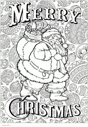 Adult Christmas Coloring Pages to Print Big Santa hay1