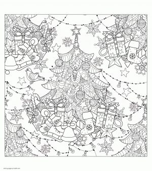 Adult Christmas Coloring Pages to Print Christmas Tree ygv3