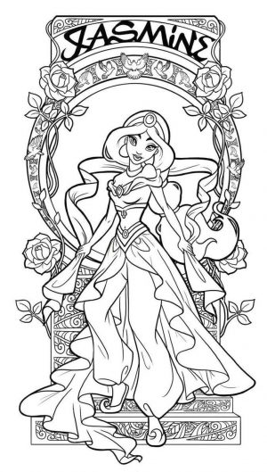 Adult Coloring Pages Disney Jasmine the Arabian Night Princess
