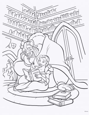 Adult Coloring Pages Disney Princess Belle and Beast