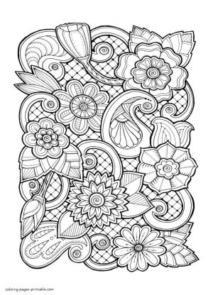 Adult Coloring Pages Floral Patterns Printable kdr8