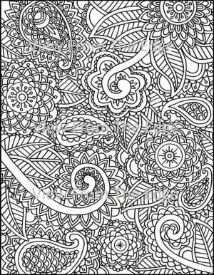 Adult Coloring Pages Paisley to Print 5ets