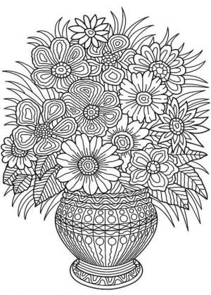 Adult Coloring Pages Patterns Flowers Free Printable 9l4n