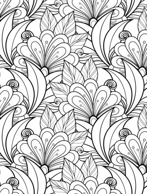 Adult Coloring Pages Patterns Flowers kdz6
