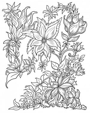 Adult Coloring Pages Patterns Flowers qpl5
