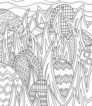 Adult Easter Coloring Pages Hidden Easter Eggs