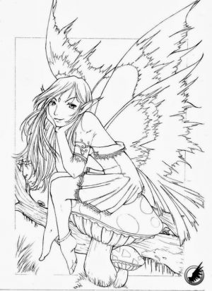 Adult Fairy Coloring Pages 0pz5
