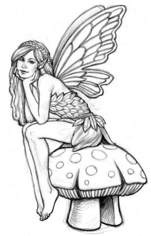 Adult Fairy Coloring Pages 8pr3