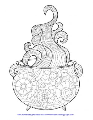 Adult Halloween Coloring Pages Cauldron 6cld
