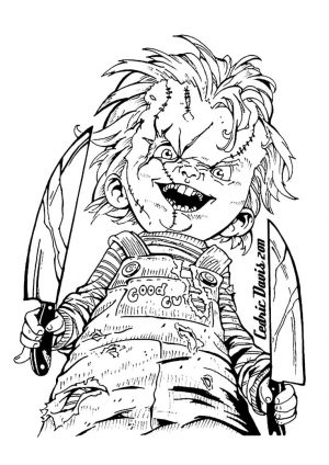 Adult Halloween Coloring Pages Chucky 2cck