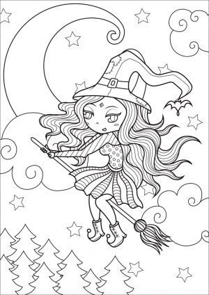 Adult Halloween Coloring Pages Little Witch 7llw