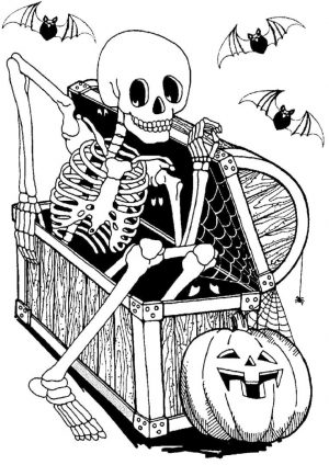 Adult Halloween Coloring Pages Skeleton 4skl