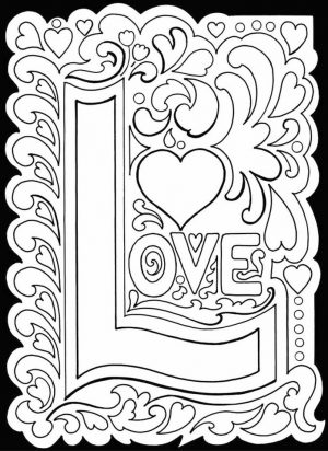 Adults Printable Love Coloring Pages – 8ah5l