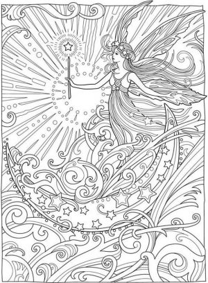 Advanced Fantasy Coloring Pages for Grown Ups 1msw
