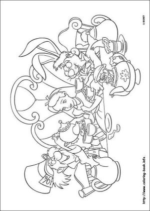 Alice In Wonderland Coloring Pages 7t4p