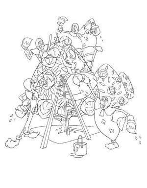 Alice In Wonderland Coloring Pages for Kids 2pt6