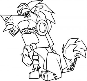 Angry Lion Animal Jam Coloring Pages Free for Kids 2ang
