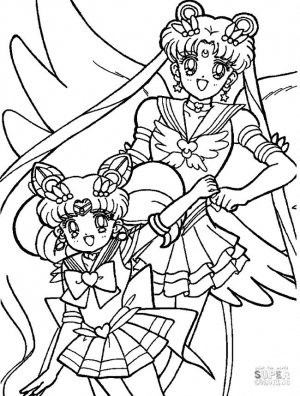 Anime Coloring Pages Cute Sailor Moon