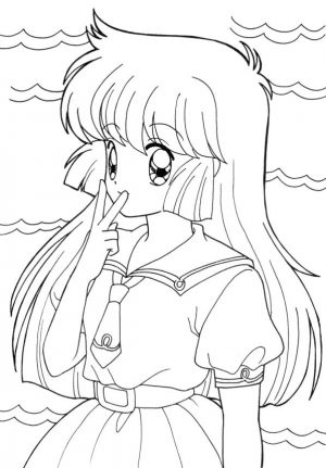 Anime Coloring Pages Free to Print for Girls