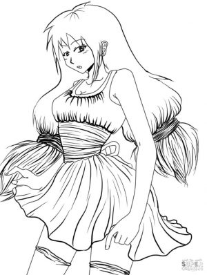 Anime Girl Coloring Pages Printable ch52