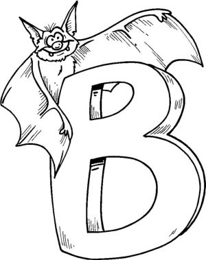 B is for Bat Coloring Pages – 89318