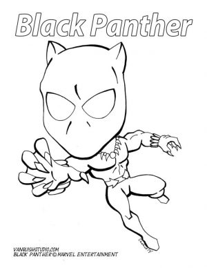 Black Panther Coloring Pages Printable kid4