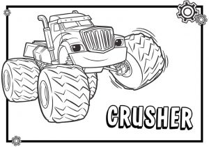 Blaze Coloring Pages Online Crusher